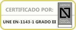 Certificado Aenor Grado III