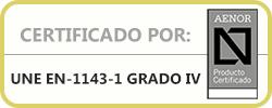 Certificado Aenor Serie IV